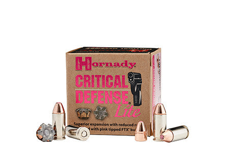 Hornady 90240 Critical Defense 9mm Luger 100 GR FTX 25Bx/10Cs