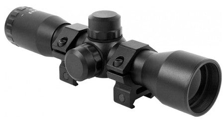 "Aim Sports JTM432B Tactical 4x 32mm Obj 36.6 ft @ 100 yds FOV 1"" Tube Dia Black Matte Mil-Dot"
