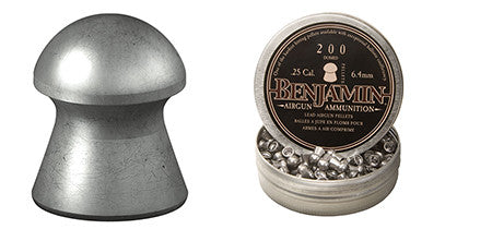 Benjamin BD225 Domed  .25 Lead Pellet 200