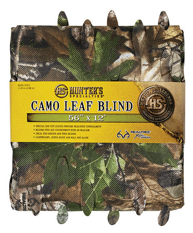 Hunters Specialties 07215 Camo Leaf Blind Material 56inx12ft Realtree Xtra Green