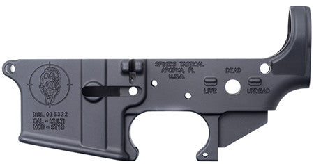 Spikes STLS011 Stripped Lower Zombie AR-15 Multi-Caliber Black