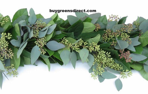 25 FRESH Salal Seeded Eucalyptus Garland