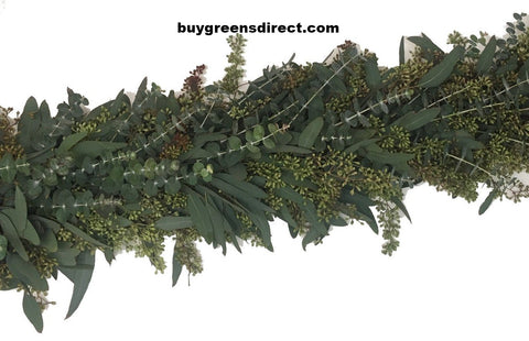 25' FRESH Seeded Eucalyptus and Baby Blue Euc Garland