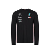 Mercedes AMG Racing 2019 Long Sleeve Team T-Shirt - Black