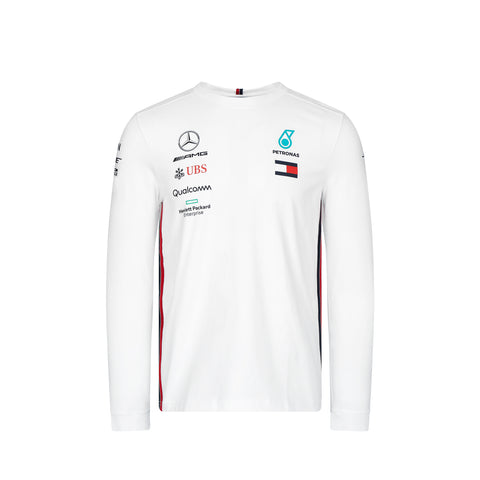 Mercedes AMG Racing 2019 Long Sleeve Team T-Shirt - White