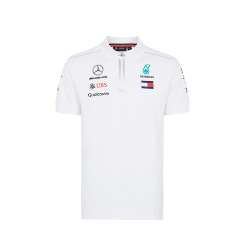 AMG Mercedes 2018 Team Poloshirt - White