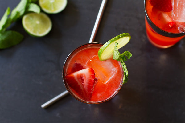 Strawberry Moscow Mule Cocktail