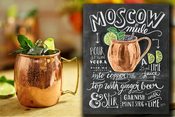 Moscow Mule into a copper mug