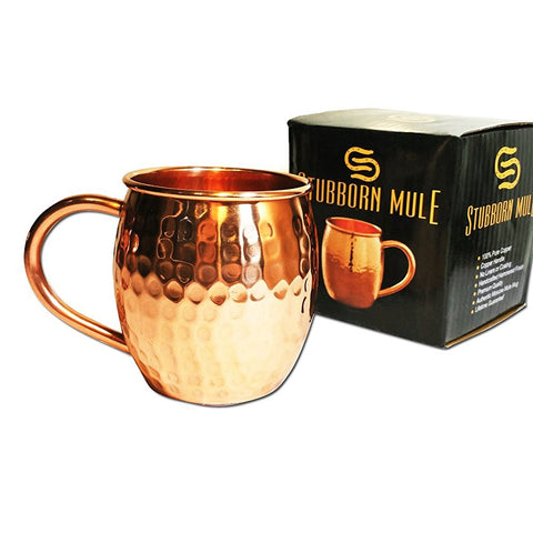 hammered hand made copper moscow mule mug