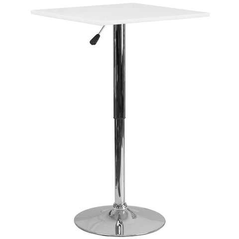 Luxe Adjustable Height Tall Bistro Table