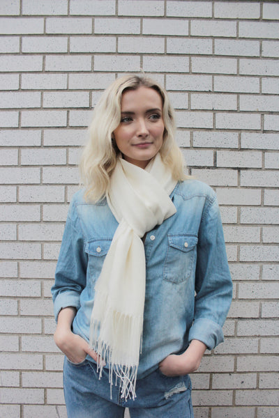 MERCER SCARF - WHITE
