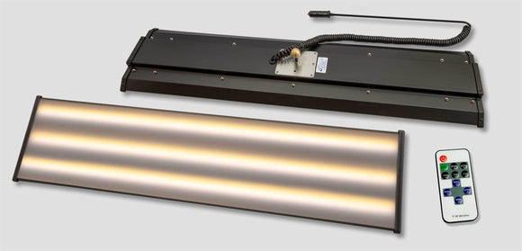 A1Ba36-9Led6:  12V 6 Strip Led 9 X 36 Aluminum Fixture W/ Remote Dim Control 1Ball Lighting &