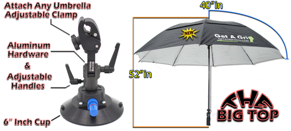 A118G2:  Get-A-Grip 80 Big Top Umbrella With The Grip 6 Inch Cup