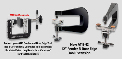 A119-12:  Aluminum C-Shape 12 Extension For A119 Fender Edge Tool Accessories