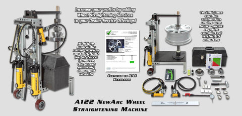 A122-C:  Newarc Wheel Straightening Machine With Portability Package Accessories