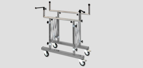 A14C - Accordion Expanding Stainless Hood And Trunk Rack Racks Carts