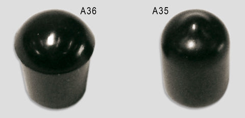 A36:  Soft Tip Rubber Push-On Cap 1/4 Accessories