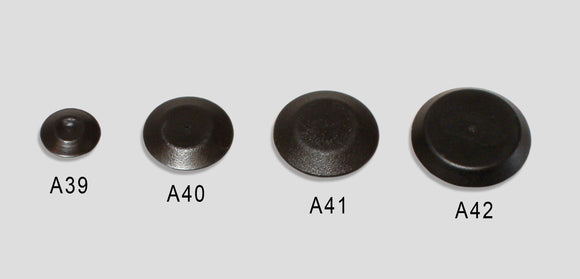 A40 - 3/8 Flush Plug Black Plastic Accessories