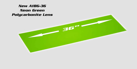 A1Bg36-L:  36 Ultra Neon Green Led Lens Cover Lens Cover