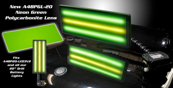 A4Bpgl20 - 20 Ultra Neon Green Lens Cover Lighting & Electrical