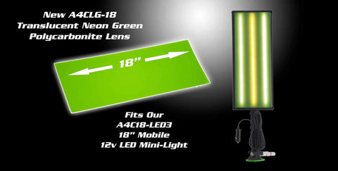 A4Clg18 - 18 Ultra Translucent Neon Green Lens Cover