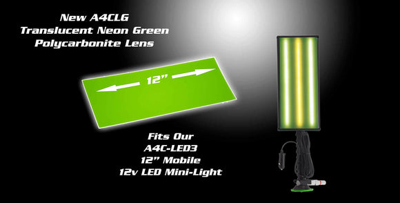 A4Clg - 12 Ultra Translucent Neon Green Lens Cover Lighting & Electrical
