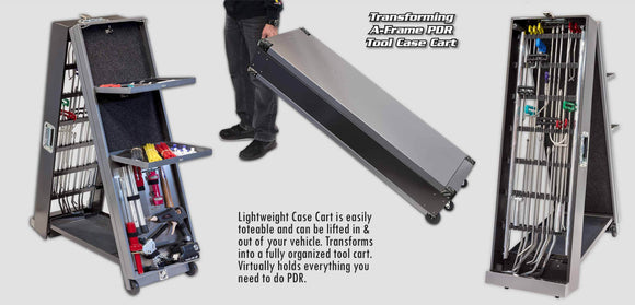 A61A - Ultra Transforming A-Frame Pdr Tool Case Cart Hood Racks And Carts