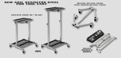 A61L:  Ultra Lightweight Stainless Pdr Tool Cart Hood Racks And Carts
