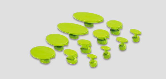Ablkplg30:  Black Plague Gang Green Oval Variety Pack (12 Pcs) Glue Tab