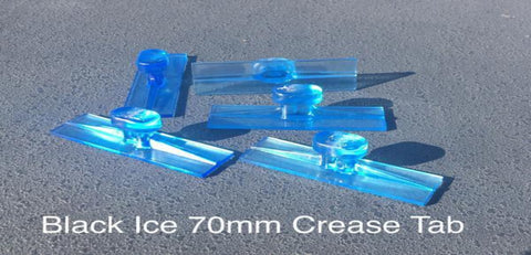 136-Ict70Mm:  Black Plague 70Mm Ice Crease Tab - 5 Pcs Glue