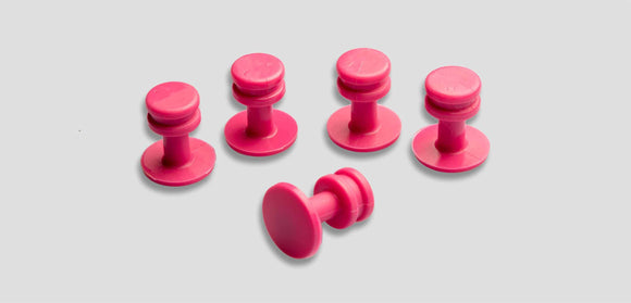 Pink-17Mm 17Mm 5 Pcs Glue Tab