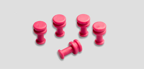 Pink-9Mm:  9Mm 5 Pcs Glue Tab