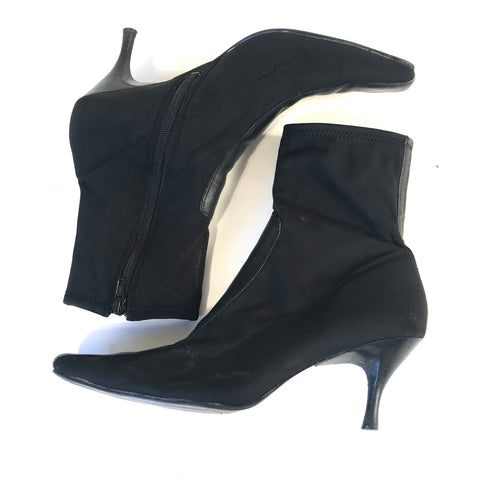 Bandolino Womens Boots Black Two Toned Pointed toe Size 10M- AH12