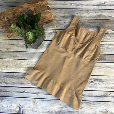 Camishapes Womens Control Top Nude Color Size Small AF27