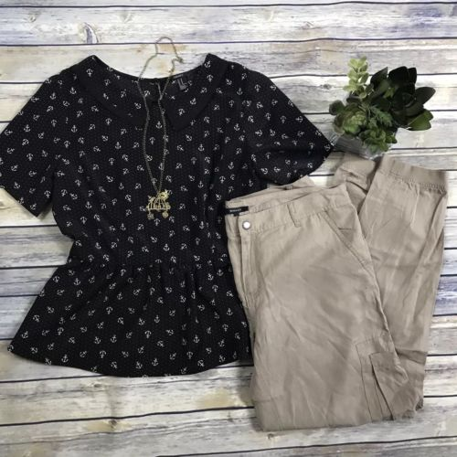 3 Pcs Women's Clothing Lot Outfit Size Medium RW&Co Size 10 Pants, Med H&M Top