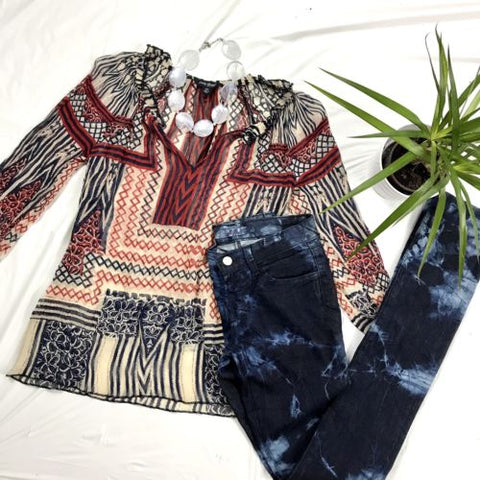 3 Pcs Womens Clothing Lot Outfit Lucky Brand Top XS, J Brand Pants Size 24