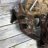 Aerosoles Strappy Sandals Brown Size 6.5 Sling Back