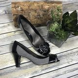 Circa Joan and David peep toe heels Herringbone pattern CJDARING -Lot E1