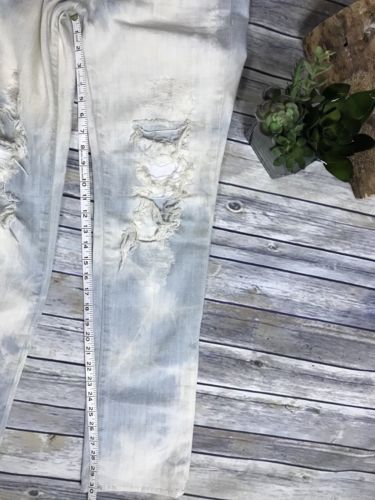 Size 28 J Brand Low rise pencil leg light wash destroyed jeans AA06