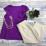 3 Pcs Women's Clothing Lot Size Small Traditions 6P And Small Top With Bow
