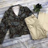 3 Pcs Women's Clothing Lot Peter Nygard Pants First Jacket, American Vintage Top