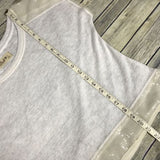 Large Hollister white knit top with sequined details