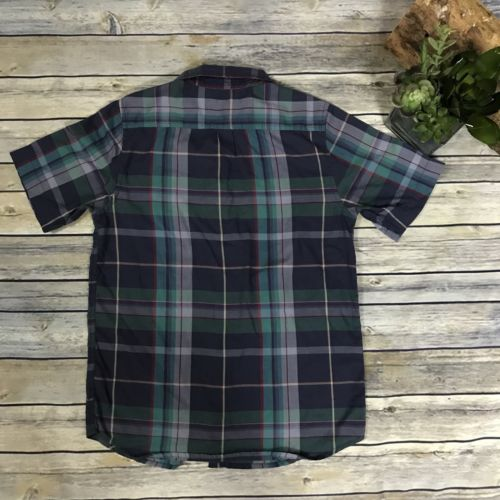 Kids Medium DC Short Sleeve Button Up Shirt Checkered - AM25