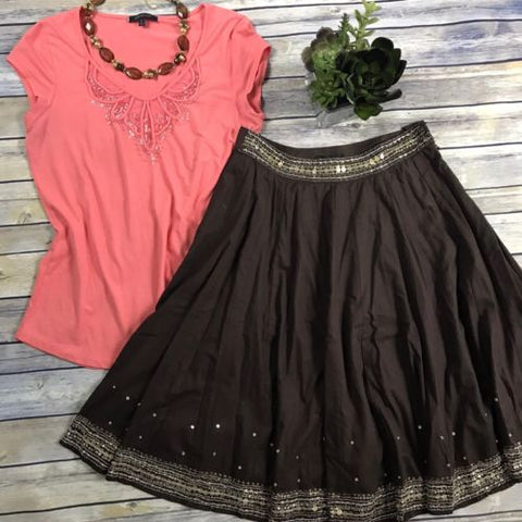 Size Small Women's Clothing Outfit Lot Anne Klein Top, Grace Elements Skirt