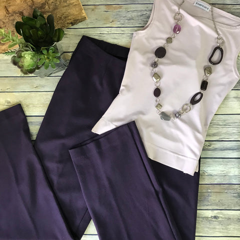 3Pcs Womens Career wear outfit lot Cold Water Creek Pants, Rampage Top, Necklace