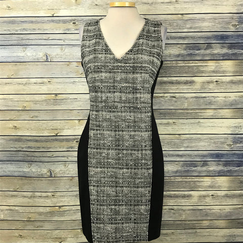 Akris *punto Womens Dress Color Block white / black Part wool- with pockets Size