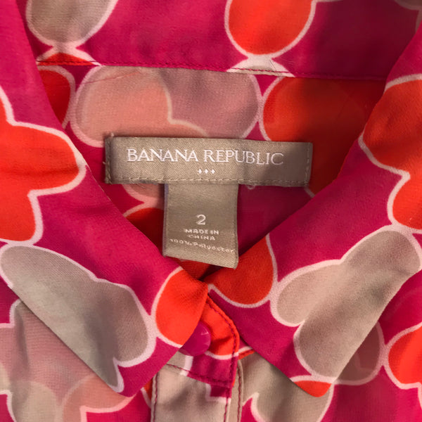 Banana Republic Womens Top Sleevesless Printed Size Small - AL01