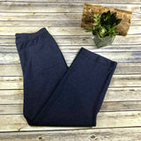Alia Womens Casual Pants Soft and Stretchy Blue Tri-Blend Size 10- SS30
