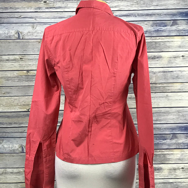 J Crew Womens Button Down Shirt Pink Size 6 (Small) 100% Cotton PP01