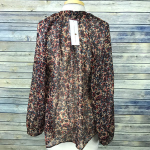French Connection Womens Blouse  or top Multi color print Size 8 / med Button do